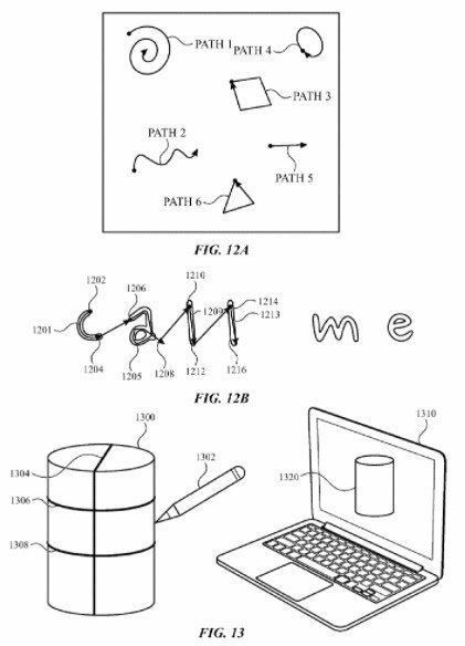 This figure below illustrates some types of drawings the pen can create: