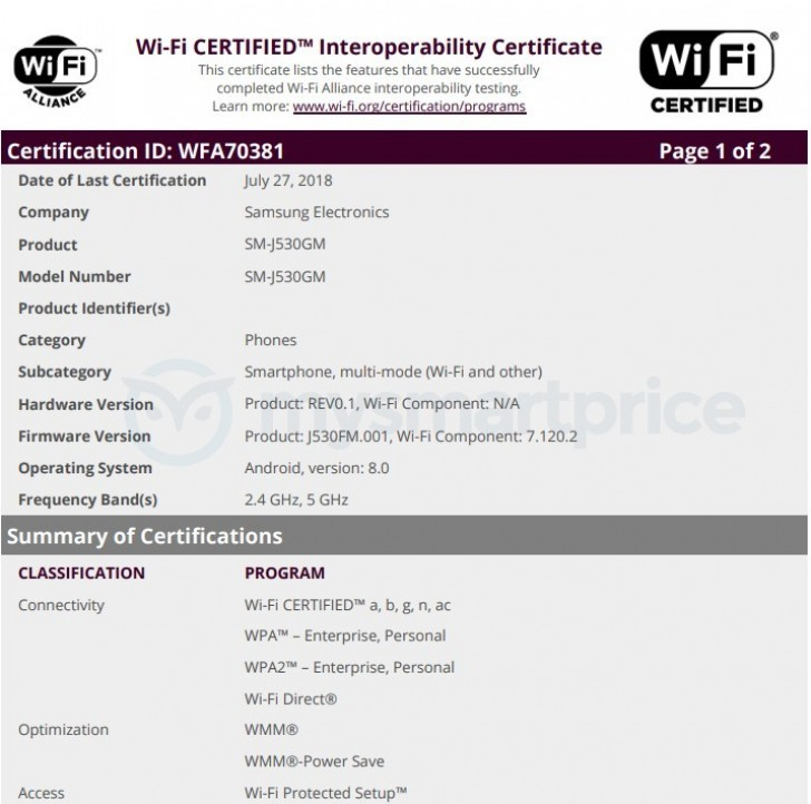Samsung_J5_Wifi_Crtification